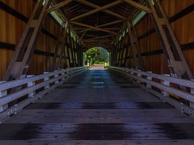 Mosby Photograph - Mosby Creek Covered Bridge by Michele James