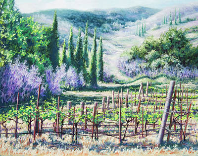 Mosby's Vines On Santa Rita Hills Art Print