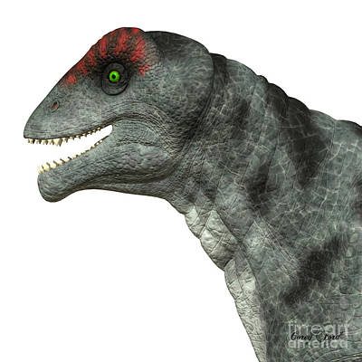 Prehistoric Digital Art - Moschops Dinosaur Head by Corey Ford