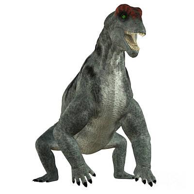 Prehistoric Digital Art - Moschops Herbivore Dinosaur by Corey Ford