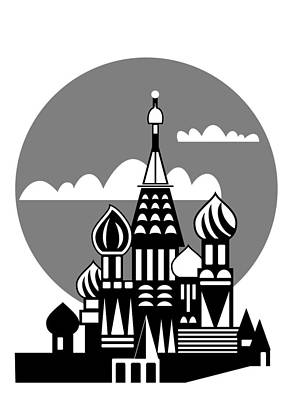 Tourist Attraction Digital Art - Moscow - Russian Orthodox Church by Michal Boubin