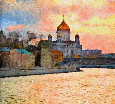 Digital Art - Moscow Beauty Sunset by Yury Malkov