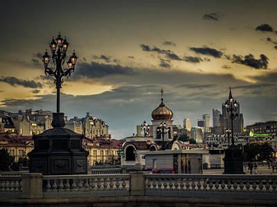 Photograph - Moscow By Night. by Usha Peddamatham