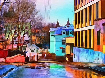 Digital Art - Moscow Center Streets 10 by Yury Malkov