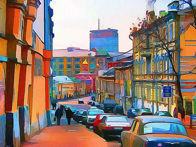 Digital Art - Moscow Center Streets 11 by Yury Malkov