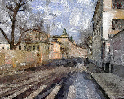 Digital Art - Moscow Center Streets 4 by Yury Malkov