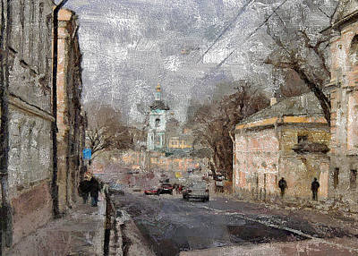 Digital Art - Moscow Center Streets 5 by Yury Malkov