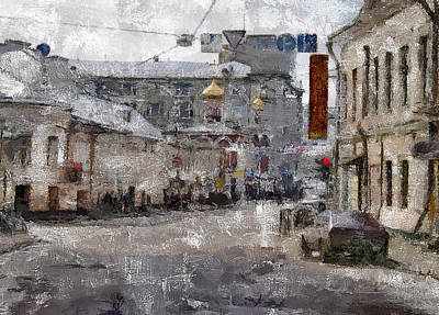 Digital Art - Moscow Center Streets 6 by Yury Malkov