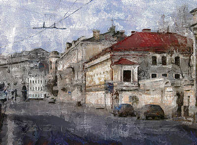 Digital Art - Moscow Center Streets 7 by Yury Malkov