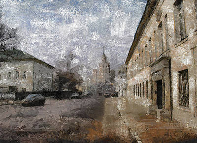 Digital Art - Moscow Center Streets 8 by Yury Malkov