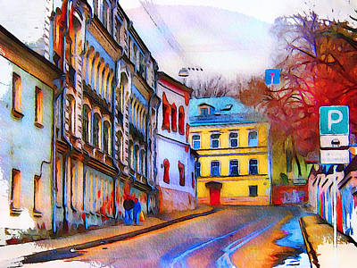 Digital Art - Moscow Center Streets 9 by Yury Malkov