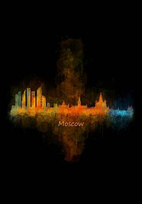 Moscow Skyline Painting - Moscow City Skyline Hq V4 by HQ Photo