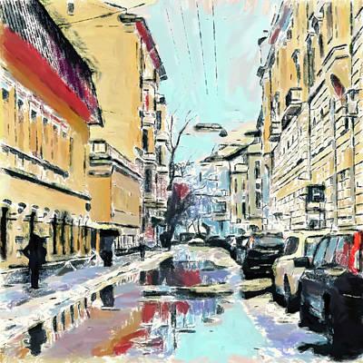 Digital Art - Moscow Color Rain 2 by Yury Malkov