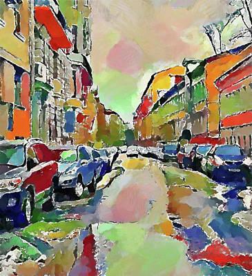 Digital Art - Moscow Color Rain by Yury Malkov