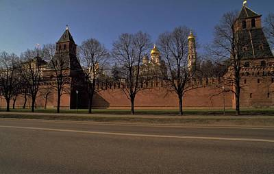 Travel Pics Royalty-Free and Rights-Managed Images - Moscow Kremlin in Winter by Travel Pics