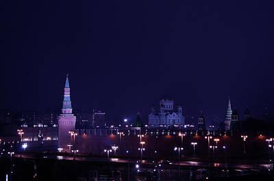 Moscow Skyline Photograph - Moscow Kremlin by Margarita Buslaeva
