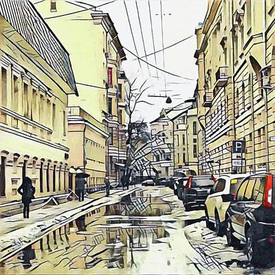 Digital Art - Moscow Lines by Yury Malkov