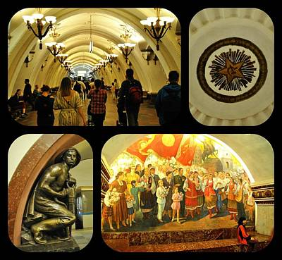 Photograph - Moscow Metro by Jacqueline M Lewis
