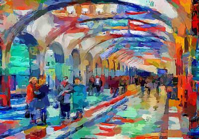 Digital Art - Moscow Metro Station by Yury Malkov