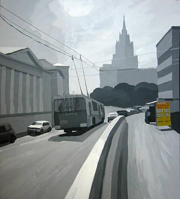 Painting - Moscow. Novaya Basmannaya Street by Lena Krasotina