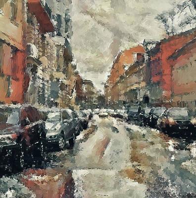 Digital Art - Moscow Rain And Snow by Yury Malkov