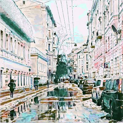 Digital Art - Moscow Rain Or Snow by Yury Malkov