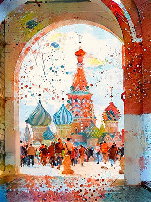 Digital Art - Moscow Red Square by Yury Malkov