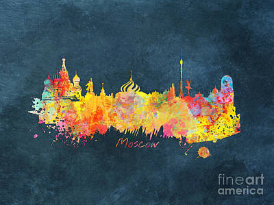 Moscow Skyline Digital Art - Moscow Skyline  by Justyna JBJart