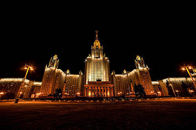 Photograph - Moscow State University by Daria Klepikova