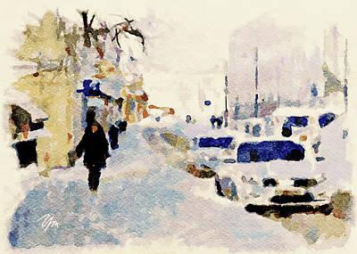 Digital Art - Moscow Watercolor Winter by Yury Malkov
