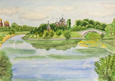Painting - Moscow, Watercolours by Irina Afonskaya