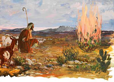 Photograph - Moses And Burning Bush by Munir Alawi