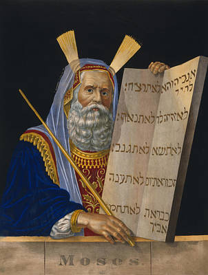 Ten Commandments Painting - Moses by Celestial Images