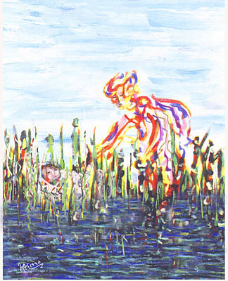 Painting - Moses In The Rushes by Michael A Klein