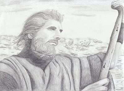 Graphite Art Drawing - Moses by M Valeriano
