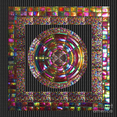Painting - Mosiac Energy Mandala Museum Navinjoshi Fineartamerica Pixels See Pod Gifts With This Image by Navin Joshi