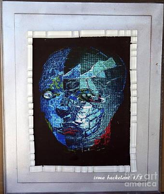 Mixed Media - Mosiac Man by Irma BACKELANT GALLERIES