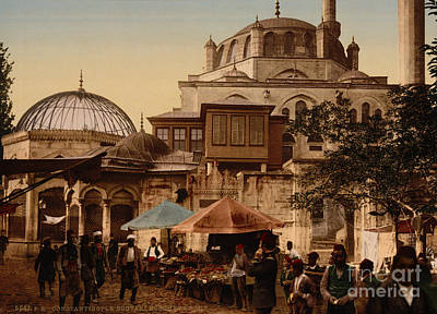 Painting - Mosque And Street Constantinople by Celestial Images