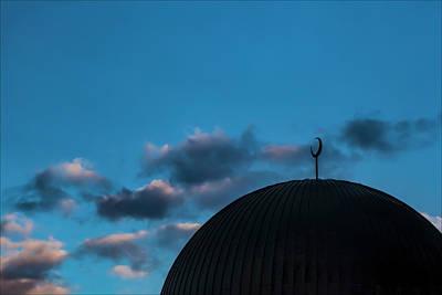 Abstract Airplane Art - Mosque at Sunset by Robert Ullmann