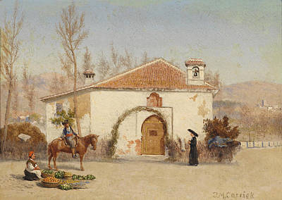Painting - Mosque Near Granada by John Mulcaster Carrick