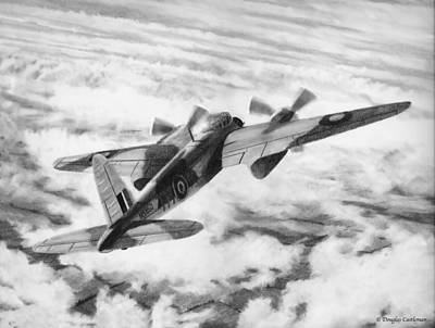 Drawing - Mosquito Fighter Bomber by Douglas Castleman