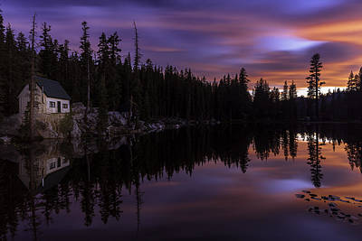 Mosquito Lake Sunset Art Print by PhotoWorks By Don Hoekwater