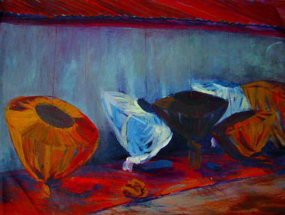 Painting - Mosquito Net Gems by Art Nomad Sandra  Hansen