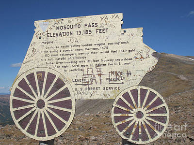 Photograph - Mosquito Pass by Tony Baca