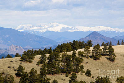 Steven Krull Royalty-Free and Rights-Managed Images - Mosquito Range Mountains from Bald Mountain Colorado by Steven Krull
