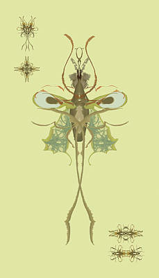 Digital Art - Mosquito Specimen by Kristin Doner