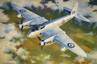 Painting - 'mosquito Survey Flight' by Colin Parker