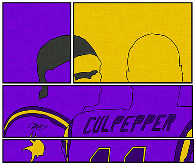 Randy Moss Digital Art - Moss And Culpepper by Kyle West