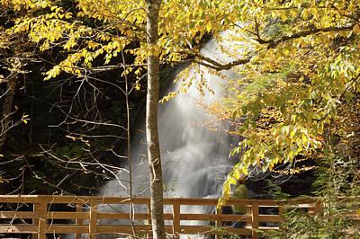 Photograph - Moss Glen Falls In Autumn by Jeff Folger
