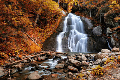 Moss Glen Falls - Indian Summer Art Print